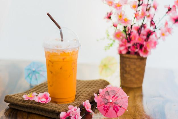 contoh daftar menu coffee shop Thai Tea Asal Thailand