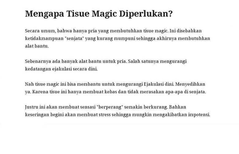 tissue magic