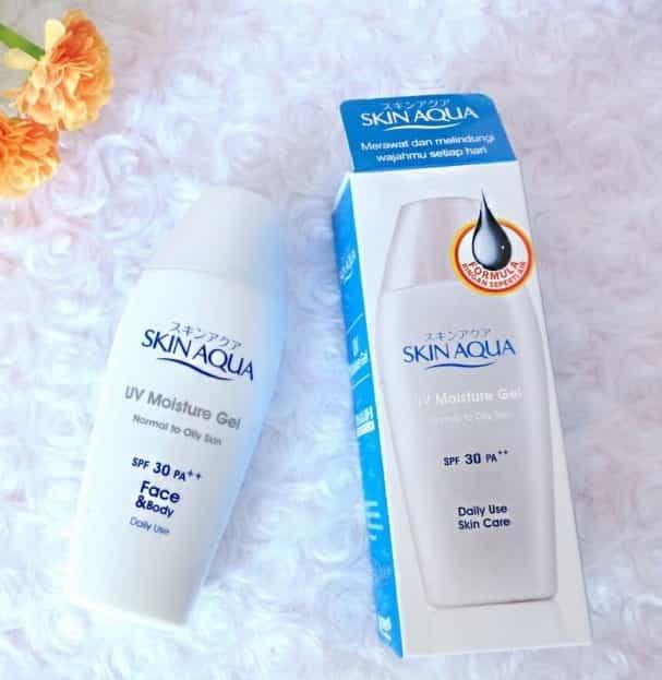 Skin Aqua UV Moisture Gel Normal to Oily Skin Sunscreen Wajah